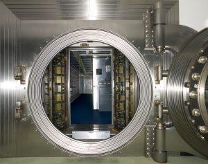 big vault with door open