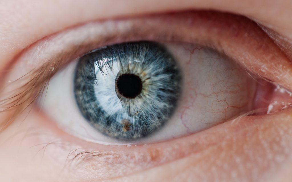 blue eye looking at key performance indicators