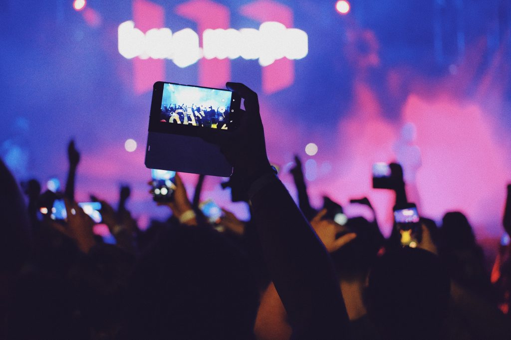 phone recording of concert for Facebook